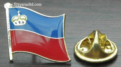 Liechtenstein Flag Lapel Hat Cap Tie Pin Badge Frstentum Liechtenstein Souvenir